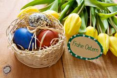 Frohe Ostern card. Stock Photos