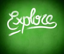 Composite image of explore message - stock illustration