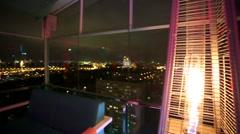 Cozy fire inside Extra Lounge Moscow nightclub. - stock footage
