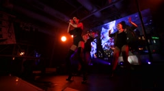 Marta the Cat singer performs in the Extra Lounge Moscow club. Stock Footage