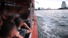 Boat transport on river Stock Footage