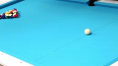 Eight ball pool billiards timelapse Stock Footage