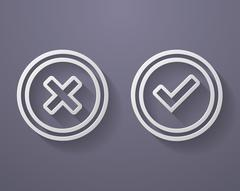 Set of check mark icons - stock illustration