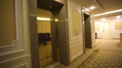 Travel through interior of the Korston Hotel Moscow. Stock Footage