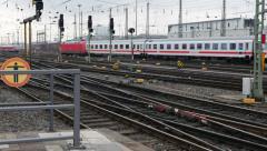 IC train leaving Frankfurt - stock footage