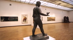 The State Tretyakov Gallery on the Crimean Val. Tretyakov Gallery - stock footage