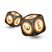 Dice with money symbols - stock illustration