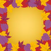 Autumn frame - stock illustration