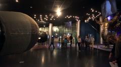 Model of Gagarin's lander, Museum of Cosmonautics. Stock Footage