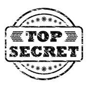 Top Secret damaged stamp - stock illustration