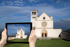 Travel to Assisi concept - stock photo