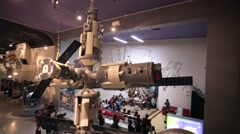 """Model of """"Mir"""" space station at the Memorial Museum of Cosmonautics. Stock Footage"""