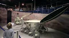 Moonrover Lunokhod in the Memorial Museum of Cosmonautics. Stock Footage