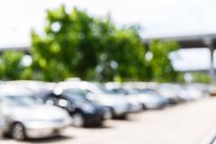 Blurred outdoor car park Stock Photos