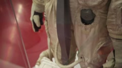 Closeup view of a spacesuit. Stock Footage