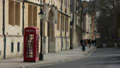 Oxford red phone box, Oxford, England, Europe Stock Footage