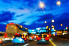 Blurred traffic jam Stock Photos