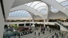 Birmingham New Street Station concourse. - stock footage