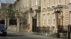 Oxford houses with a red post box, Oxford, England, Europe Stock Footage