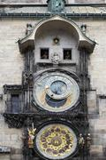 Close-up of Prague Astronomical Clock, Old Town Square, Prague, Czech Republic - stock photo