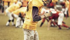 America football player - stock photo