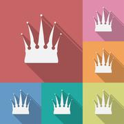 Icon of Crown. Flat style - stock illustration