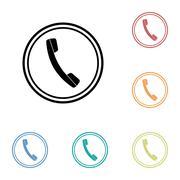 Icon of phone, telephone - stock illustration