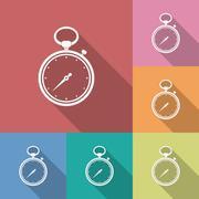 Icon of Stopwatch. Flat style Stock Illustration