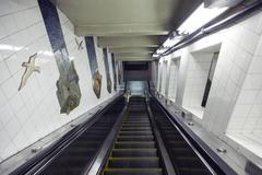 Escalator leading to subway station in new york city Kuvituskuvat