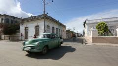 Cuba, Cardeans street scene with oldtimer - stock footage