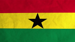 Ghanaian flag waving in the wind (full frame footage) Stock Footage