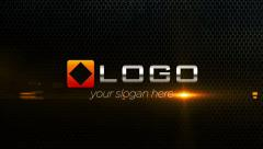 Corporate Logo Text Title 3D Shatter Particles Fire Light Reveal Animation Intro - stock after effects