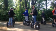 Group of Tourist on Segways Stock Footage