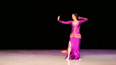 Stock Video Footage of Woman dance on a stage during X International Oriental Dance