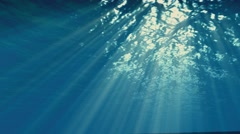 Underwater sunbeams Effect, Ocean waves Stock Footage