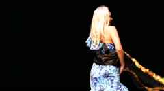 Stock Video Footage of Woman dance on a stage during X International Oriental Dance Festival