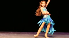 Little girl dance Stock Footage