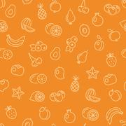 Fruit seamless pattern Stock Illustration