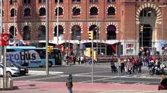 4K Timelapse traffic street rush hour people commute Barcelona city center day   Stock Footage