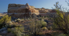 First morning light in the canyonlands, Glenn Canyon National Recreation Area Stock Footage