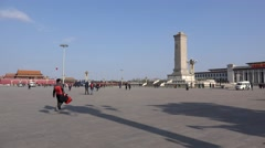 Tiananmen Square in Beijing, China. Stock Footage