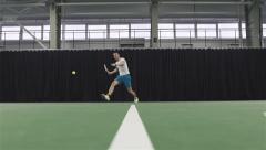 Man playing tennis. Slow motion Stock Footage
