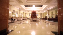 Elegant entrance of luxury Metropol hotel. - stock footage
