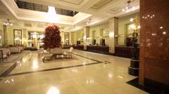 Elegant entrance of luxury Metropol hotel. - stock footage