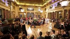 Models walk the runway for Alexander Arutyunov fashion show - stock footage