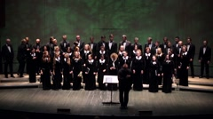Grateful audience applaud during perfomance of State Choir Stock Footage
