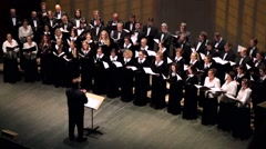 State Choir of the Moscow Regional Philharmonic Stock Footage
