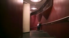 Walk along the Chamber Hall of the Moscow International House of Music. - stock footage