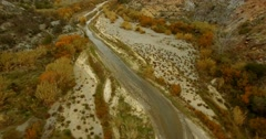 4K Aerial, Flight along a riverbed, Andalusia, Spain Stock Footage