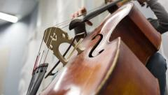 Play On The Contrabass. Stock Footage